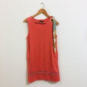 New Gracia • Coral Asymmetrical Mini Dress